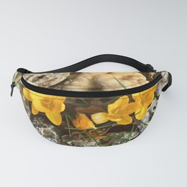 Spring flowers in the rock garden Fanny Pack