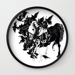 Horse Feathers Wall Clock
