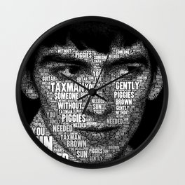 The Fab Four Songs - George Wall Clock