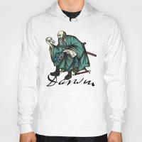 darwin Hoodies featuring Samurai Charles Darwin by QStar