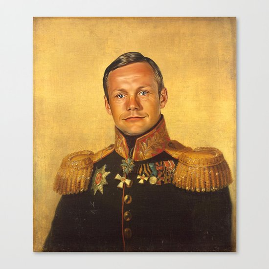 Neil Armstrong - replaceface Canvas Print