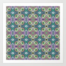 Colorful Shapes Pattern Art Print