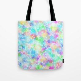 Rainbow Bubbles, Shining Stars and Color Magic Tote Bag