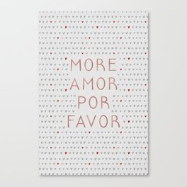 More Amor Rose Gold Canvas Print