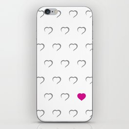 Hearts - Pink iPhone Skin