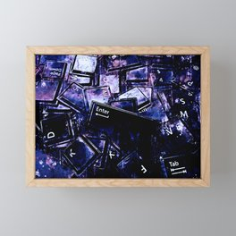 keyboard keys letters wsc80 Framed Mini Art Print