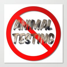 No Animal Testing Sign Canvas Print