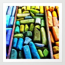 Color Sticks Art Print