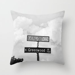 Black Wall Street Throw Pillow