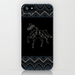 Ethnic pattern with american indian traditional ornament. Tribal background. iPhone Case