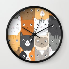 Herded Cats Wall Clock