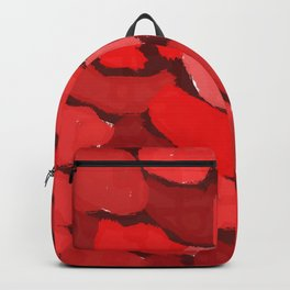 Abstract red blotches Backpack
