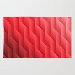 Gradient Red Diamonds Geometric Shapes Rug