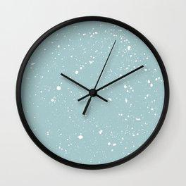 Paint splatter snowfall Wall Clock