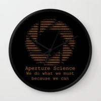 aperture Wall Clocks featuring Aperture Science by IS0metric