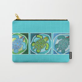 Funky Green Turtle Carry-All Pouch
