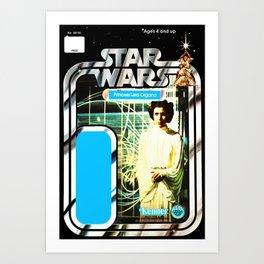 Princess Leia Vintage Action Figure Card Art Print