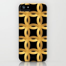 Art Deco-Like Pattern: 24-Karat Color Lucky Gold Chips iPhone Case