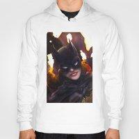 batgirl Hoodies featuring Batgirl by Nicole M Ales