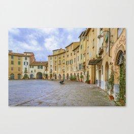 Piazza Anfiteatro, Lucca City, Italy Canvas Print