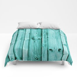 Blue Wood Texture Comforters