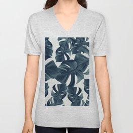 Monstera Leaves Pattern #1 #tropical #decor #art #society6 Unisex V-Neck