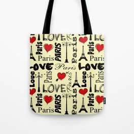 Paris text design illustration Tote Bag