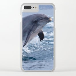 Bottenose dolphin Clear iPhone Case