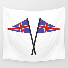 Icelandic flag Wall Tapestry
