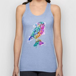 Colorful Owl Unisex Tank Top