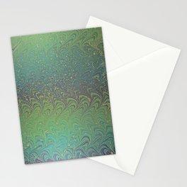 Custom Gelget Watermarbling Stationery Cards