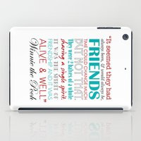 winnie the pooh iPad Cases featuring Winnie the Pooh Friendship Quote - Red & Teal by Jaydot Creative