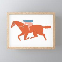 Naked derby Framed Mini Art Print