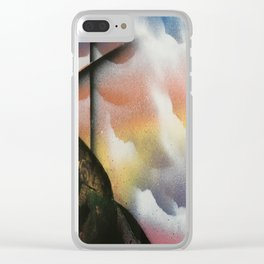 Beautiful Sky Cross Clear iPhone Case