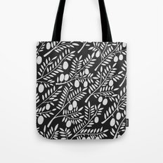 White Olive Branches Tote Bag