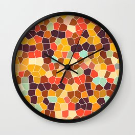 Colorful stained glass Wall Clock
