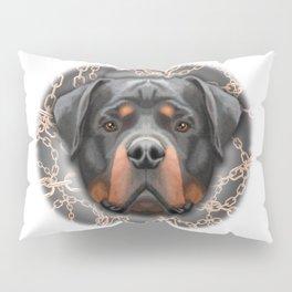 Rottweiler Chains, Rottweiler Print, Rottweiler Poster, Rottweiler Gift, Printable Art, Wall Decor Pillow Sham