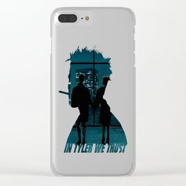 In Tyler we Trust Clear iPhone Case