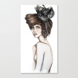 Queen of Diamonds // Fashion Illustration Canvas Print