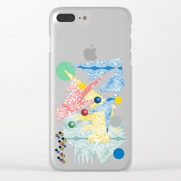 Abstract Lace Clear iPhone Case