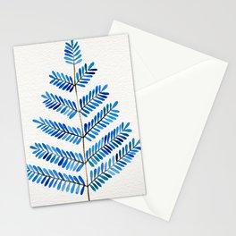 Blue Leaflets Stationery Cards