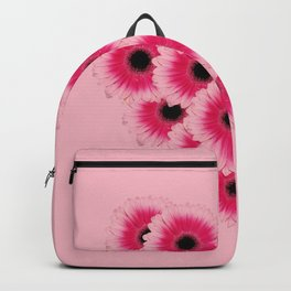 Heart Gerbera pink - Pink I Backpack