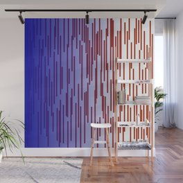 design lines blue with pink Wall Mural