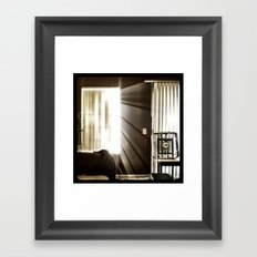 Let the light shine through. Framed Art Print