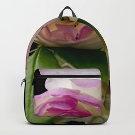 white and pink roses Backpack