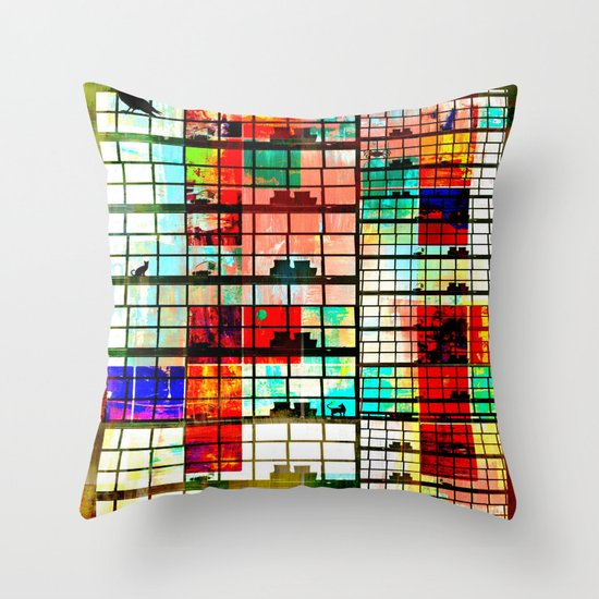 Our building Throw Pillow
