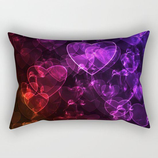 Love.  Abstract pattern with hearts. Rectangular Pillow