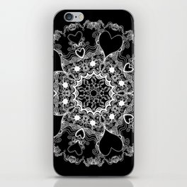 Mandala Project 215 | White on Black iPhone Skin