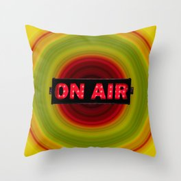on air Throw Pillow