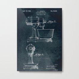 1934 - Food mixing apparatus patent art Metal Print